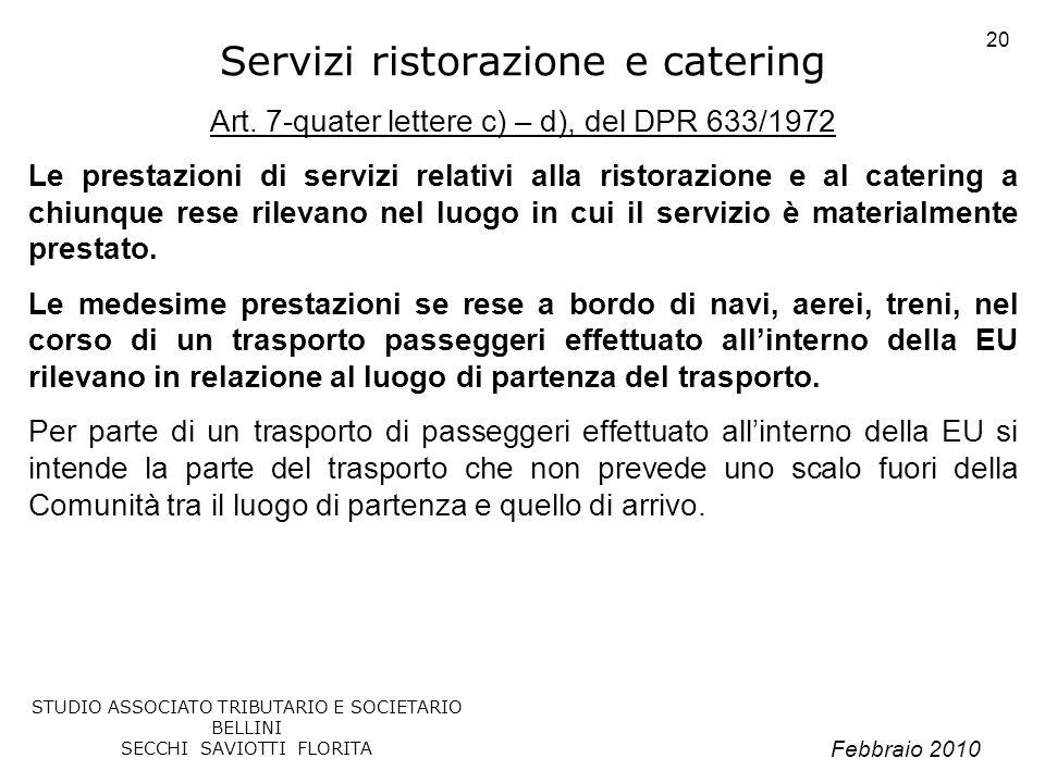 Servizi ristorazione e catering