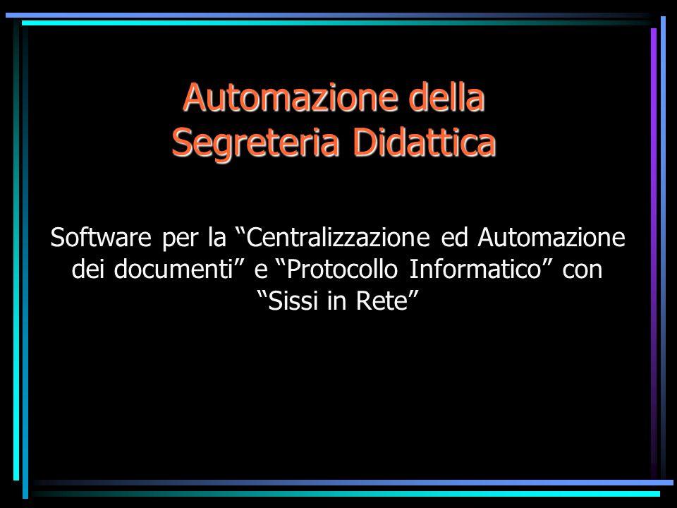 Automazione della Segreteria Didattica