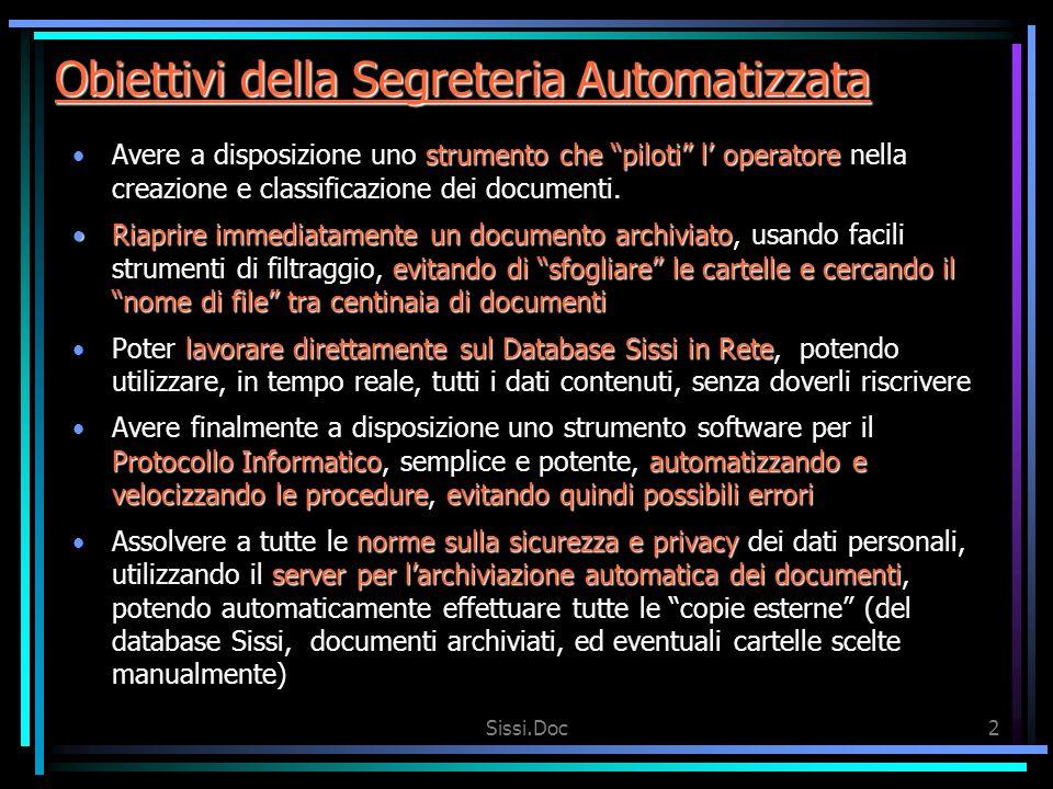 Obiettivi della Segreteria Automatizzata