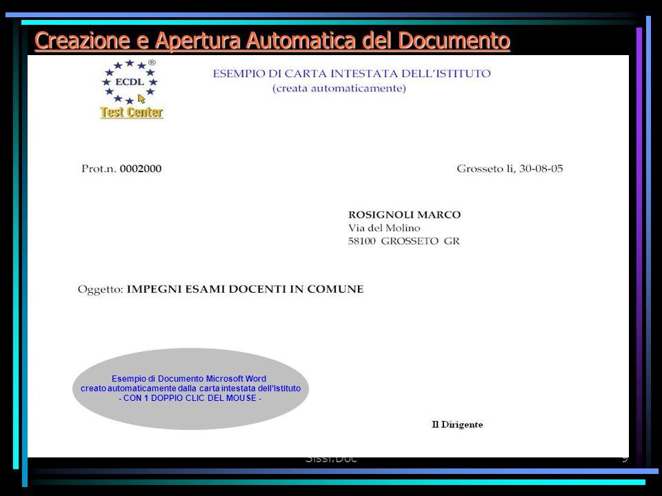 Creazione e Apertura Automatica del Documento