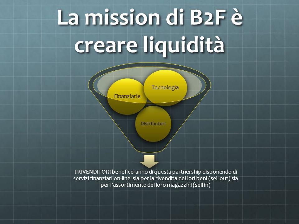 La mission di B2F è creare liquidità