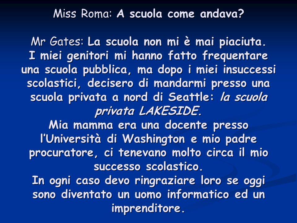 Miss Roma: A scuola come andava