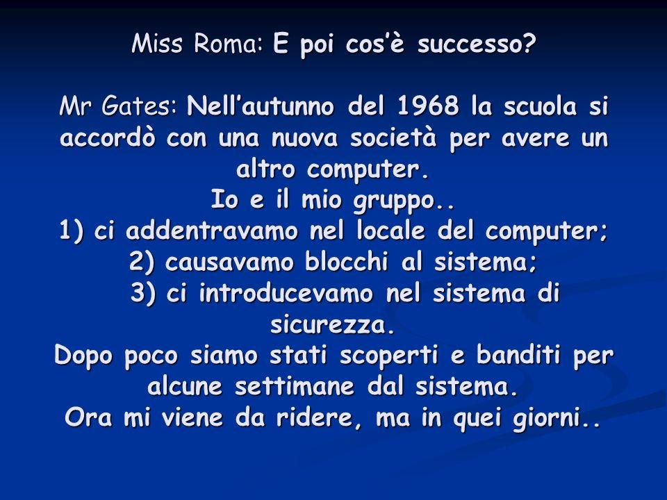 Miss Roma: E poi cos'è successo