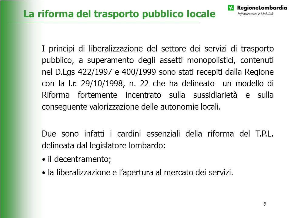 La riforma del trasporto pubblico locale