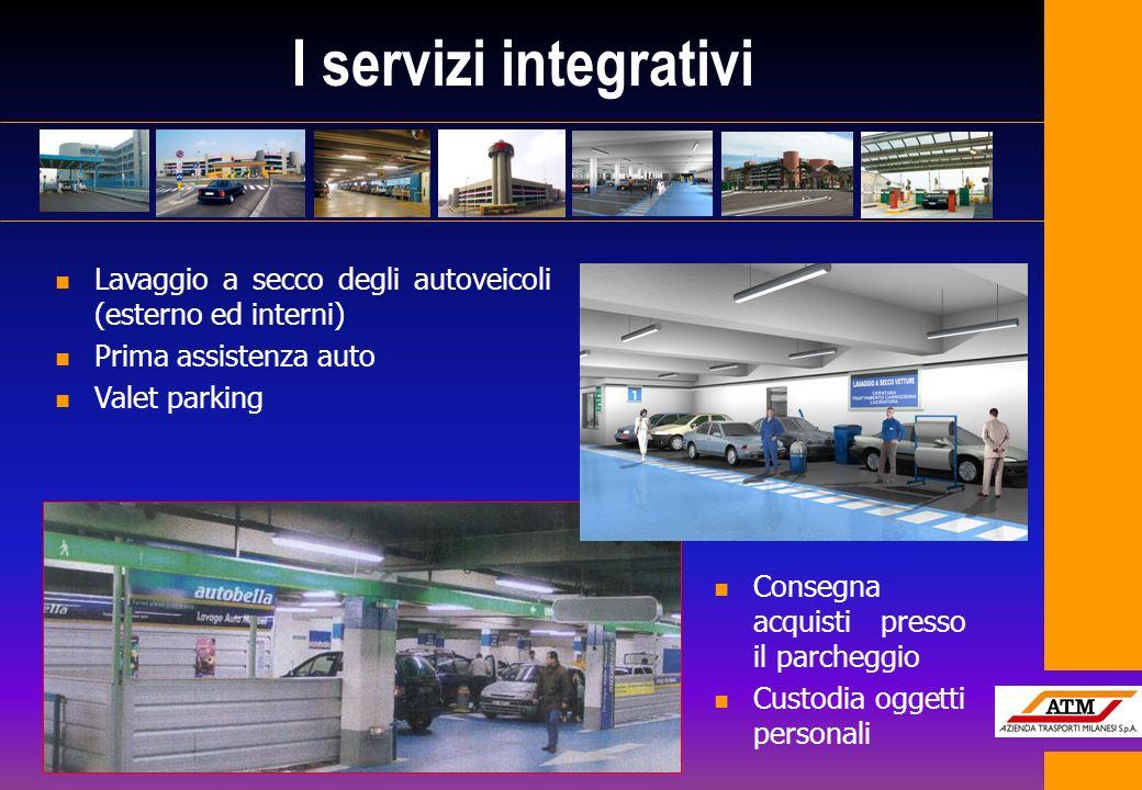 I servizi integrativi Lavaggio a secco degli autoveicoli (esterno ed interni) Prima assistenza auto.