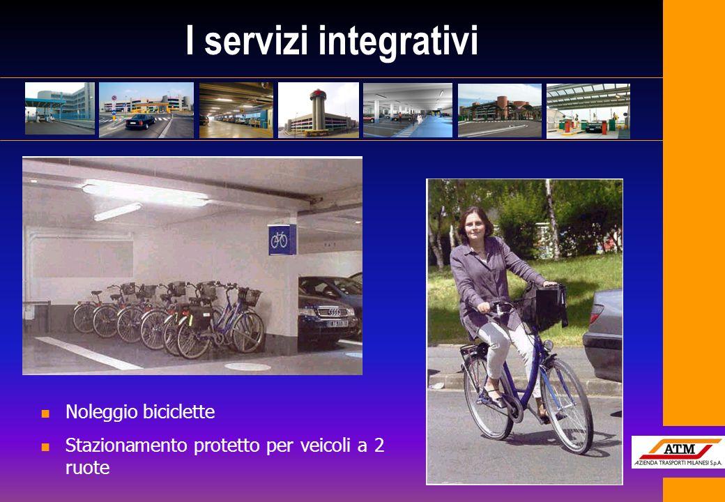 I servizi integrativi Noleggio biciclette