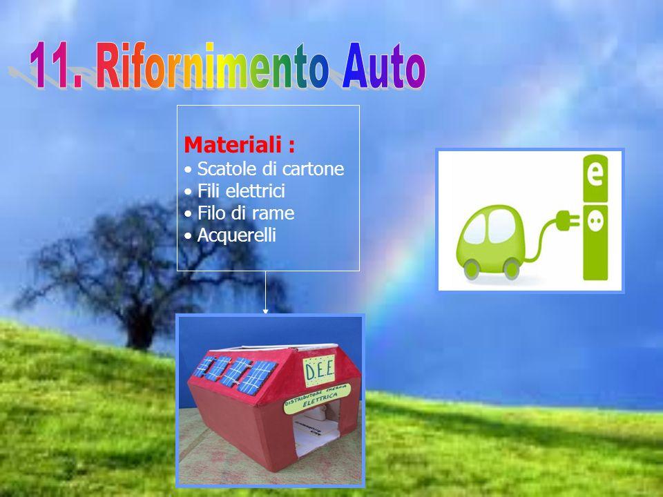 11. Rifornimento Auto Materiali : Scatole di cartone Fili elettrici