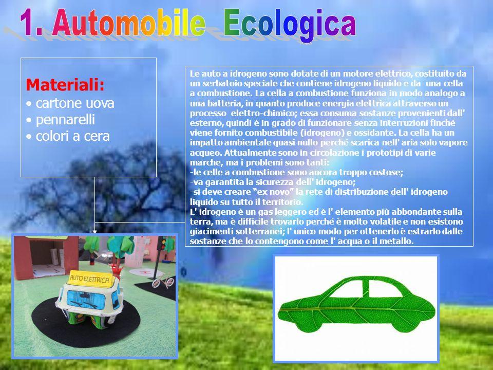 1. Automobile Ecologica Materiali: cartone uova pennarelli