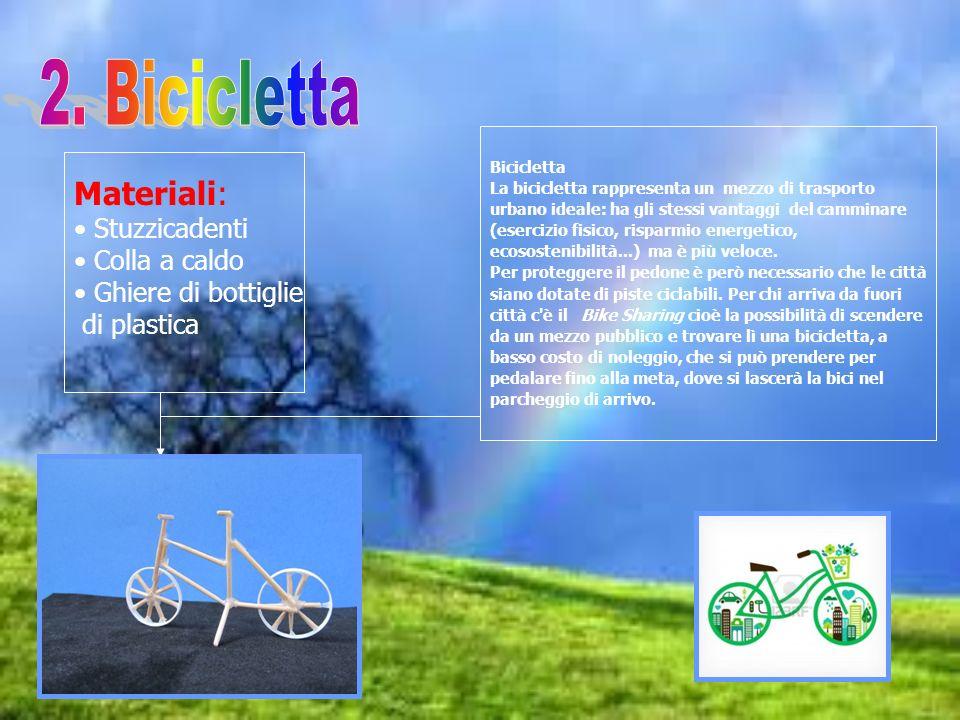 2. Bicicletta Materiali: Stuzzicadenti Colla a caldo