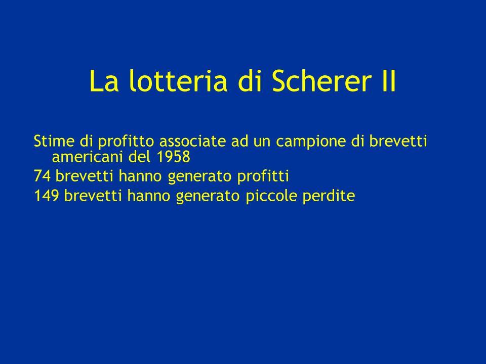 La lotteria di Scherer II