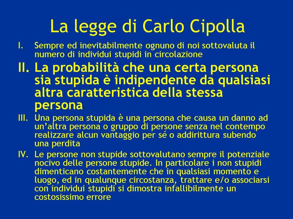 La legge di Carlo Cipolla