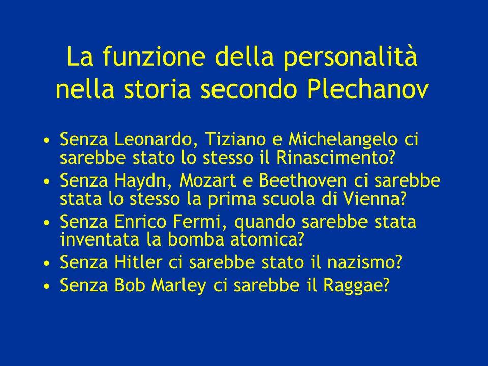 La funzione della personalità nella storia secondo Plechanov