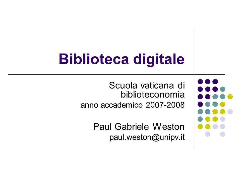 Biblioteca digitale Scuola vaticana di biblioteconomia