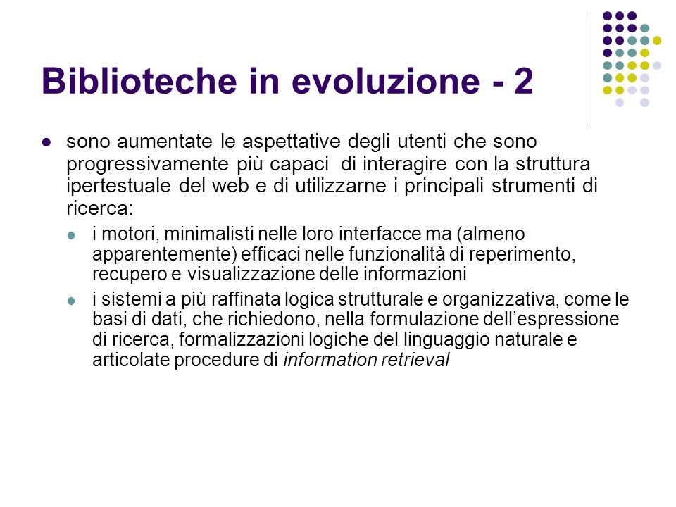 Biblioteche in evoluzione - 2