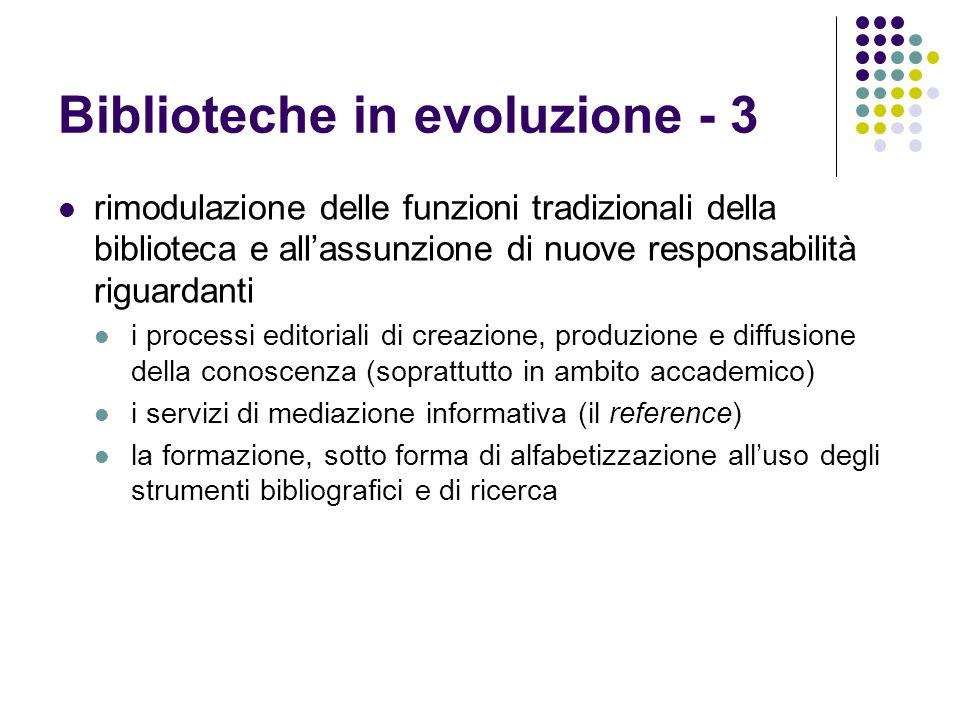 Biblioteche in evoluzione - 3