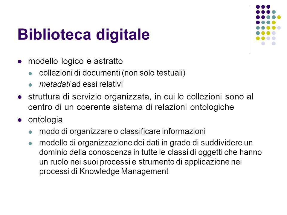 Biblioteca digitale modello logico e astratto