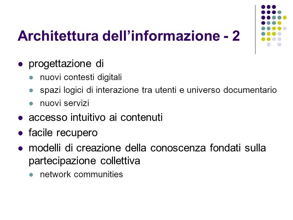 Architettura dell'informazione - 2