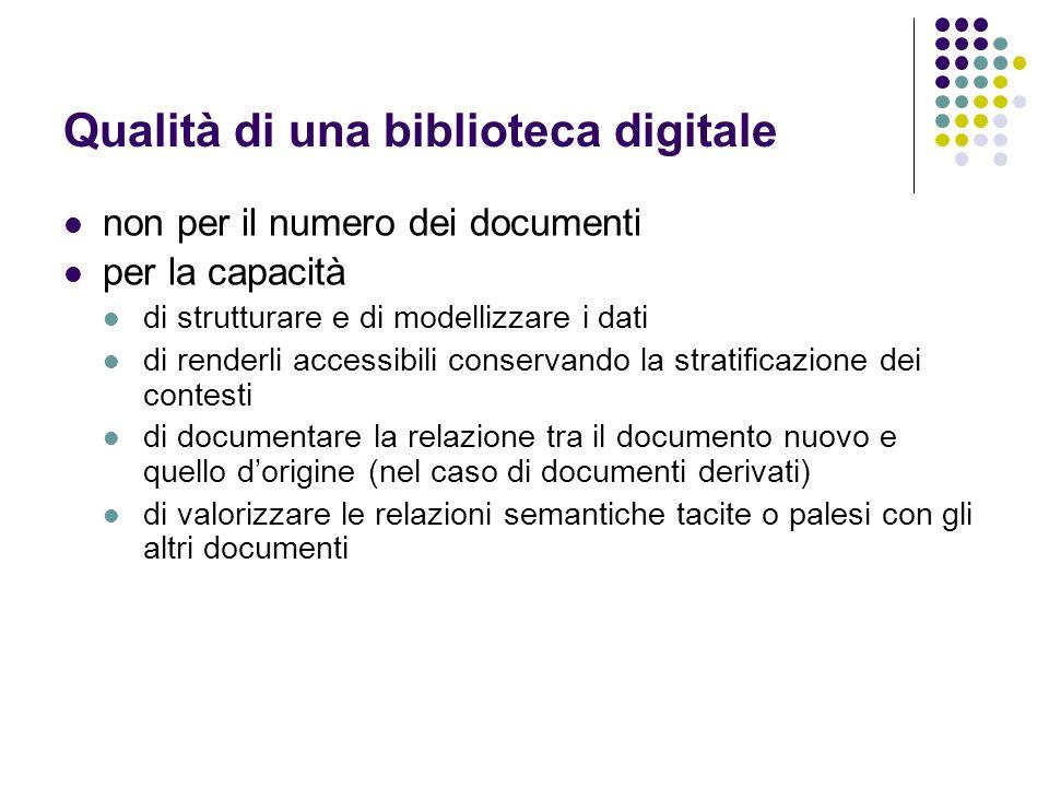 Qualità di una biblioteca digitale