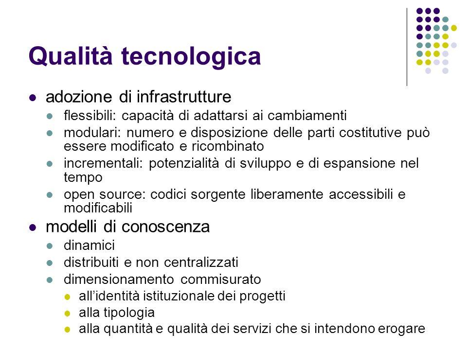 Qualità tecnologica adozione di infrastrutture modelli di conoscenza