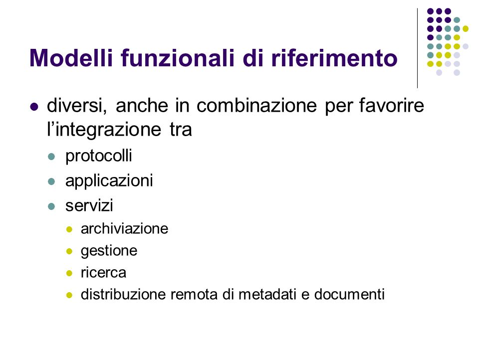 Modelli funzionali di riferimento