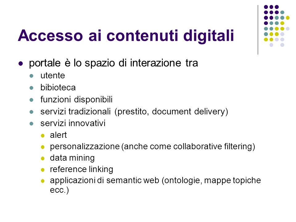 Accesso ai contenuti digitali