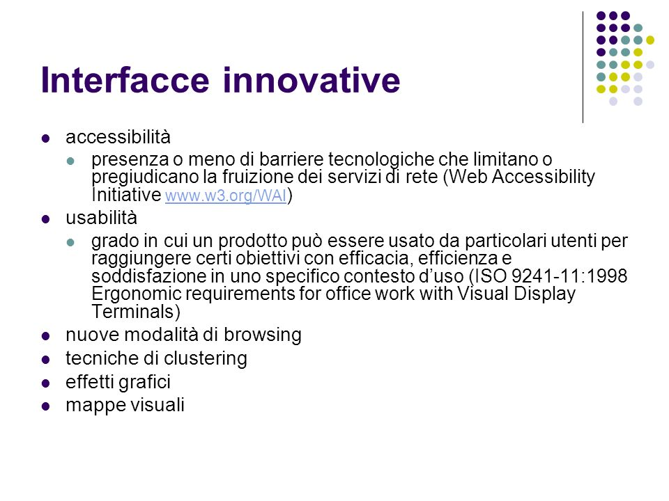 Interfacce innovative