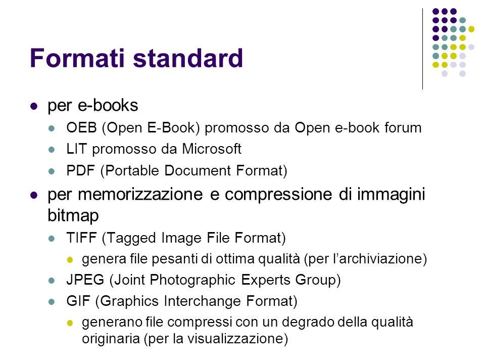 Formati standard per e-books