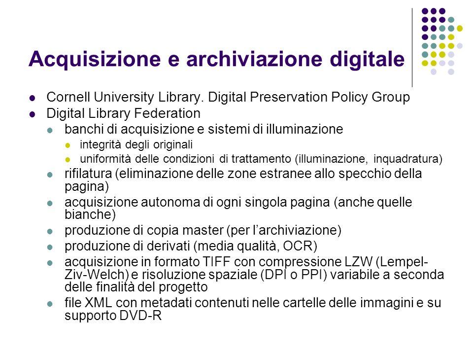 Acquisizione e archiviazione digitale