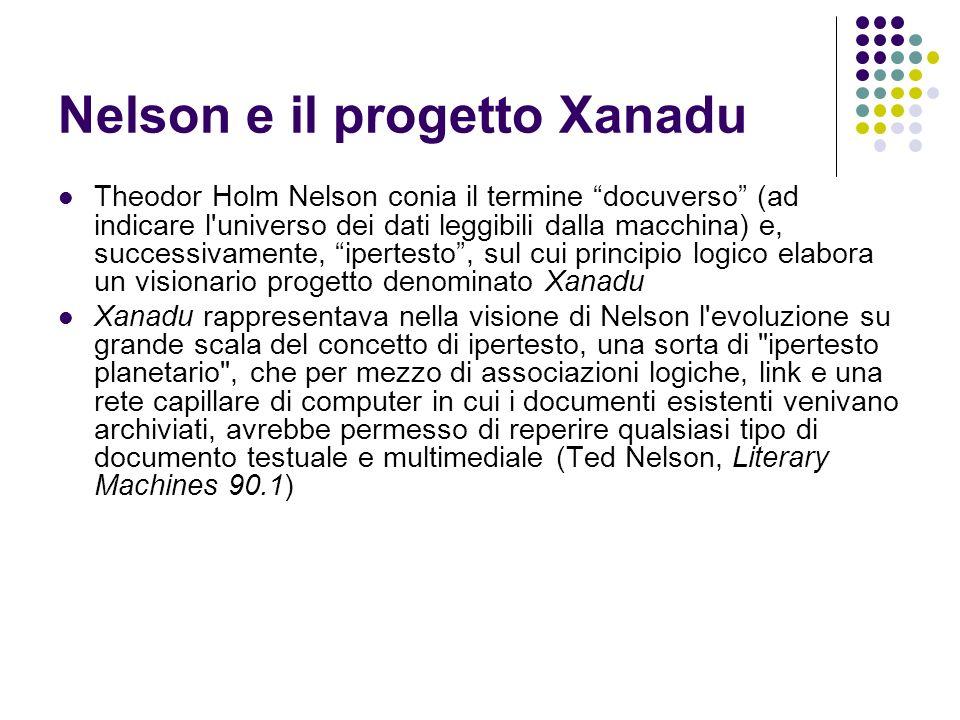 Nelson e il progetto Xanadu
