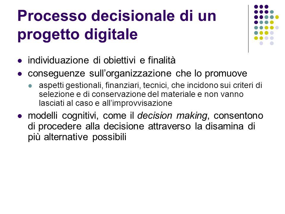 Processo decisionale di un progetto digitale