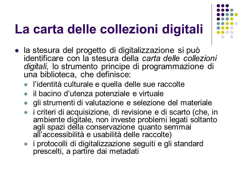La carta delle collezioni digitali
