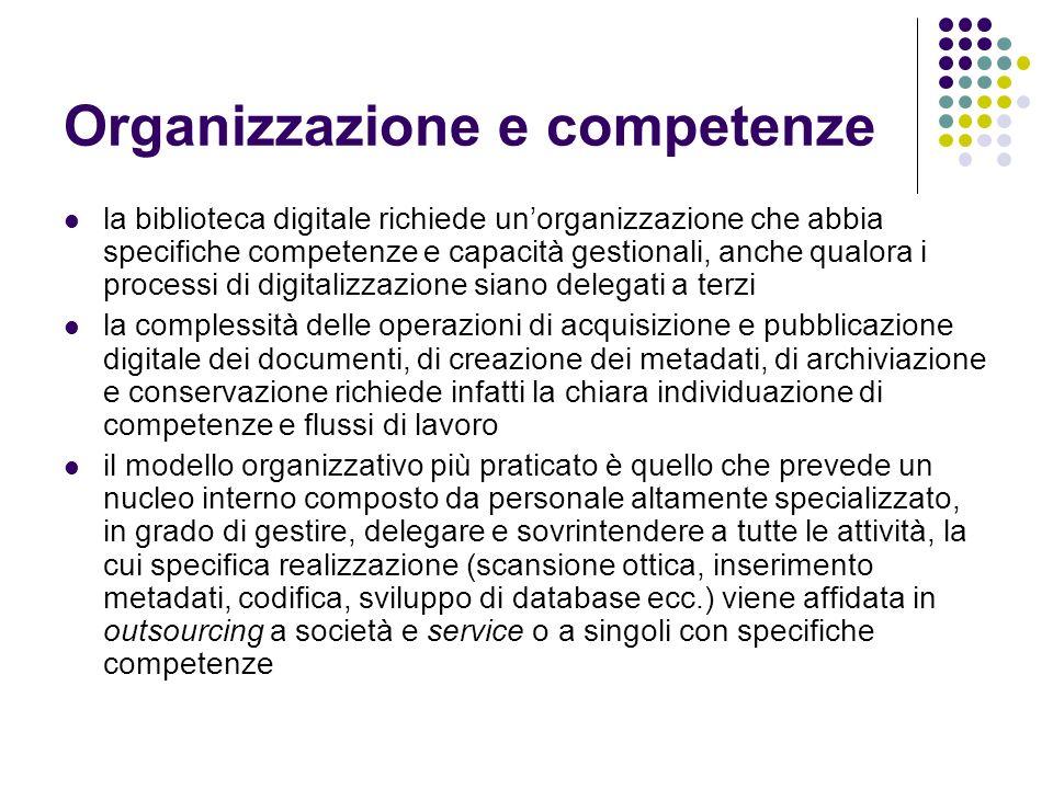 Organizzazione e competenze