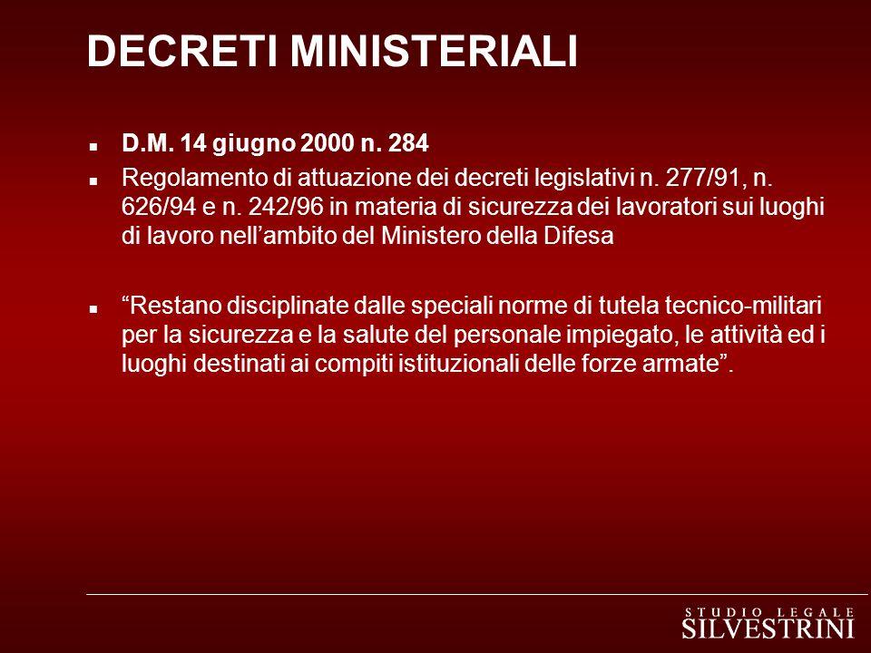 DECRETI MINISTERIALI D.M. 14 giugno 2000 n. 284