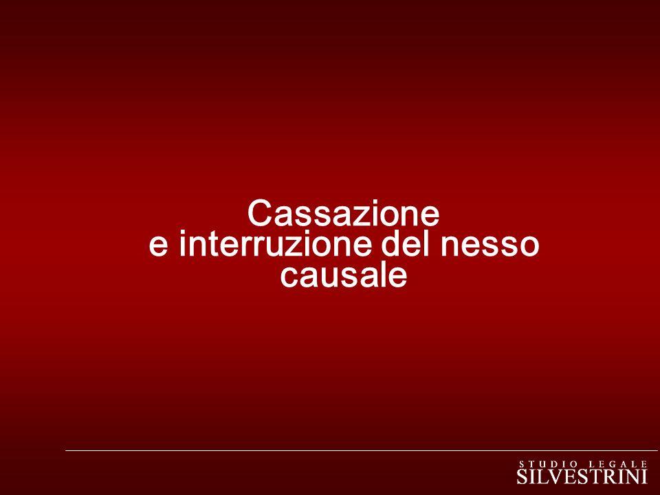 Cassazione e interruzione del nesso causale