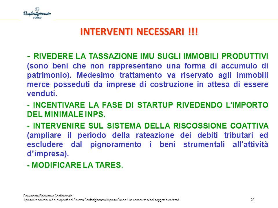 INTERVENTI NECESSARI !!!