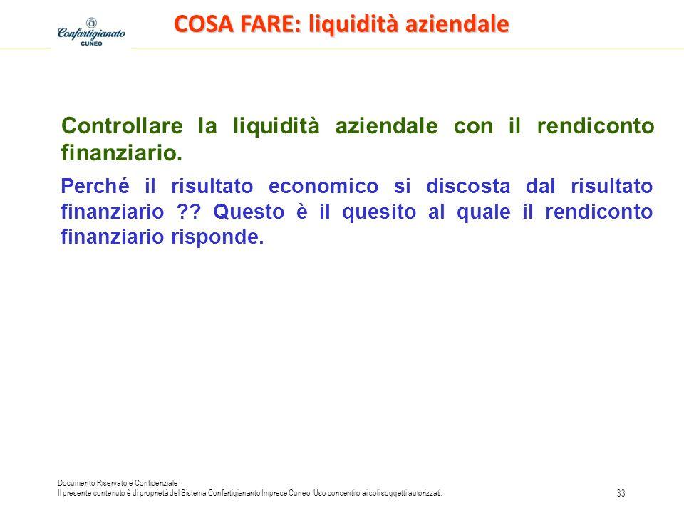 COSA FARE: liquidità aziendale