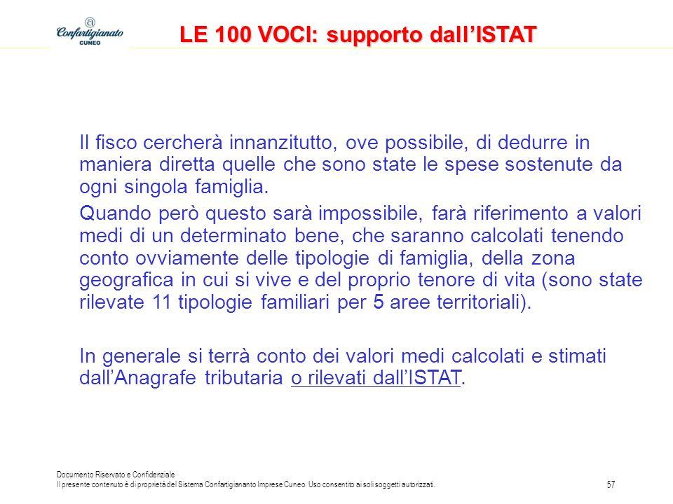 LE 100 VOCI: supporto dall'ISTAT