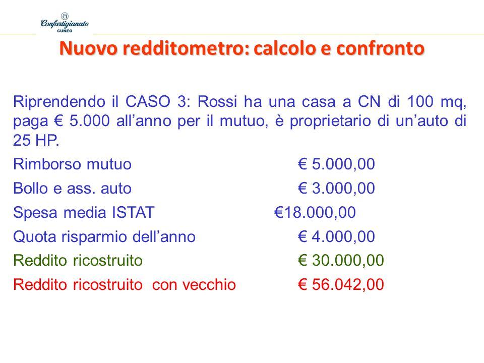 Nuovo redditometro: calcolo e confronto