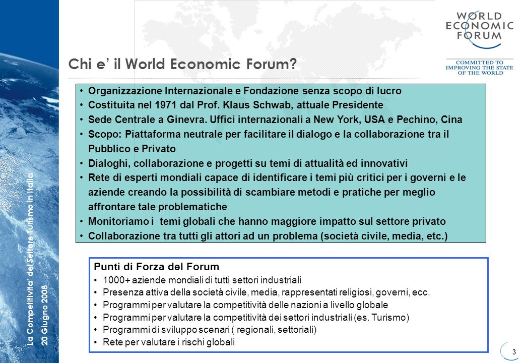 Chi e' il World Economic Forum