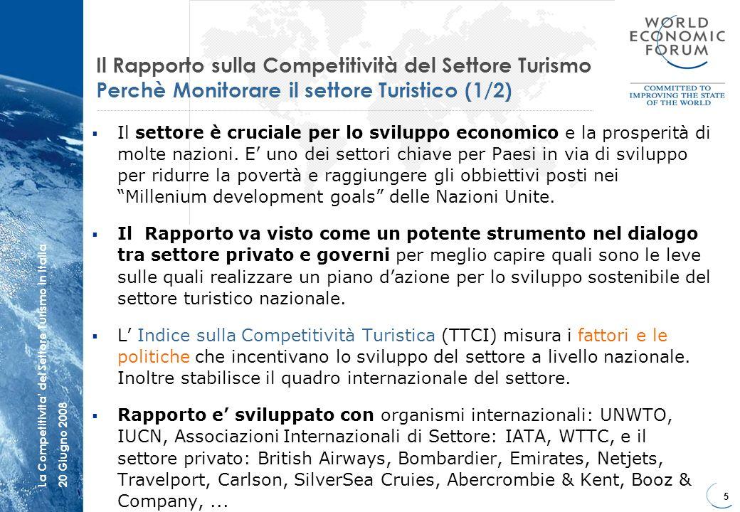 Il Rapporto sulla Competitività del Settore Turismo Perchè Monitorare il settore Turistico (1/2)
