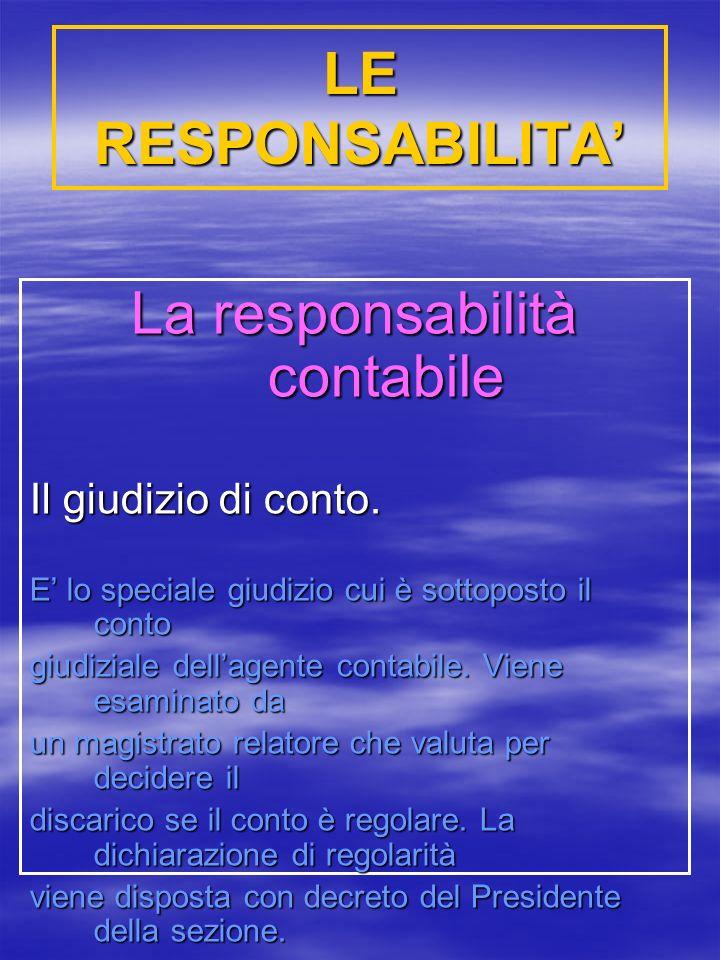 La responsabilità contabile