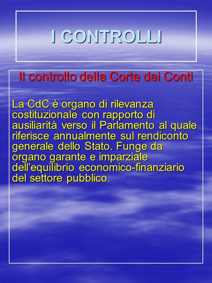 Il controllo della Corte dei Conti