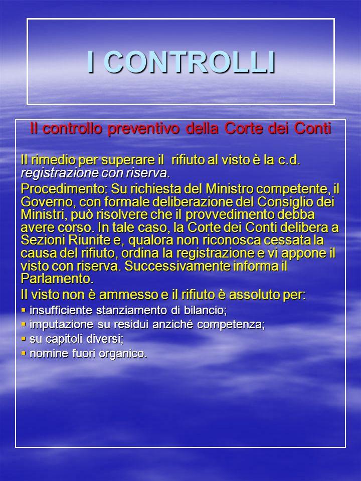 Il controllo preventivo della Corte dei Conti