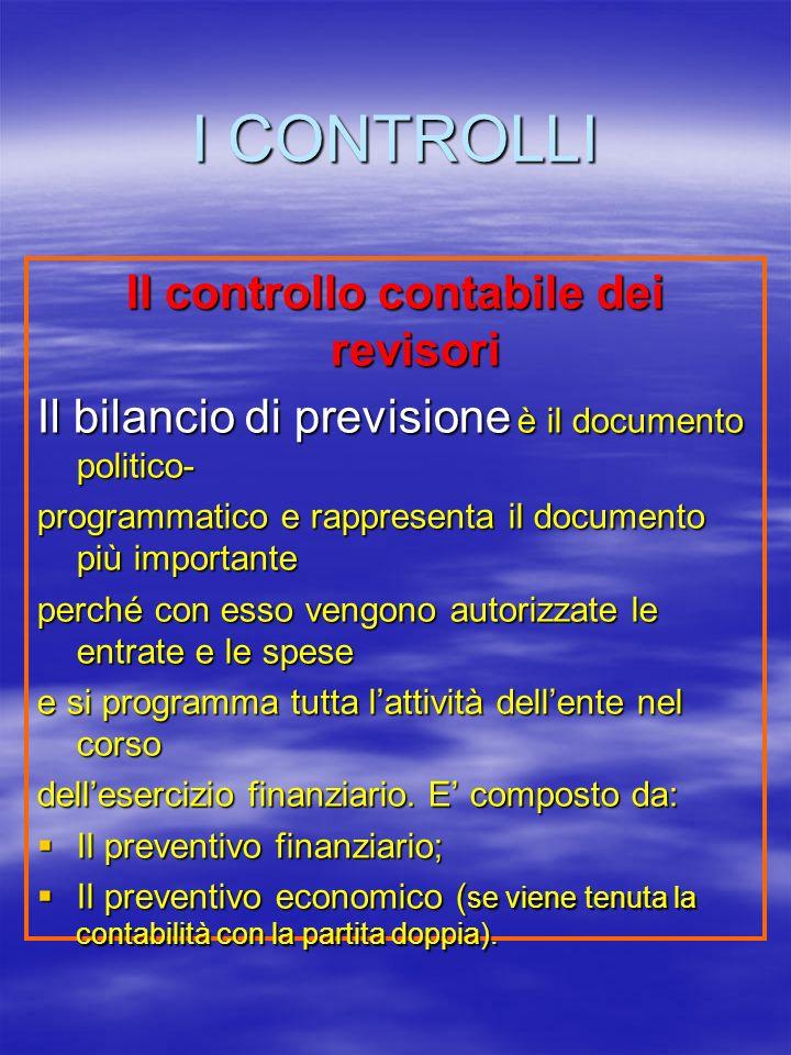 Il controllo contabile dei revisori