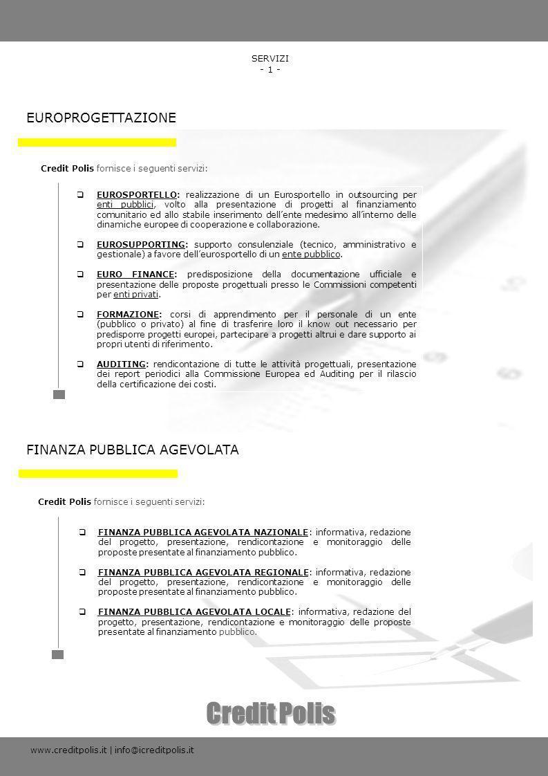 Credit Polis EUROPROGETTAZIONE FINANZA PUBBLICA AGEVOLATA SERVIZI