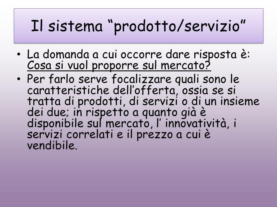 Il sistema prodotto/servizio