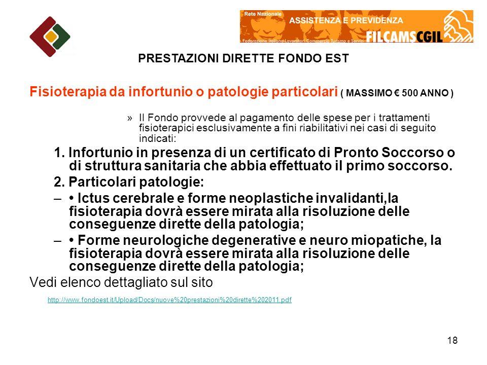 2. Particolari patologie: