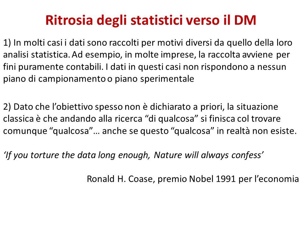 Ritrosia degli statistici verso il DM