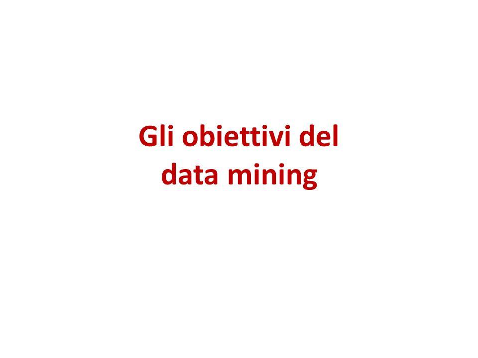 Gli obiettivi del data mining