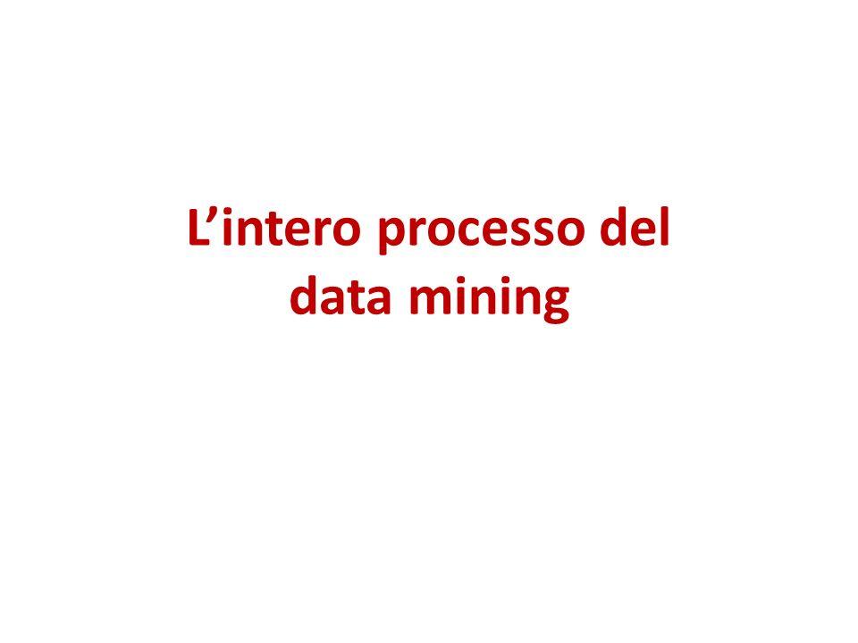 L'intero processo del data mining